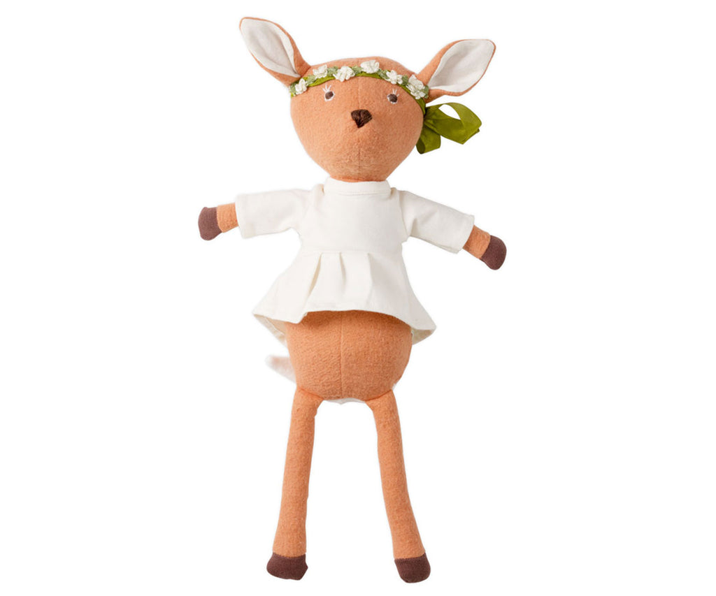 Hazel Village Phoebe Fawn in Natural Tunic and Flower Crown