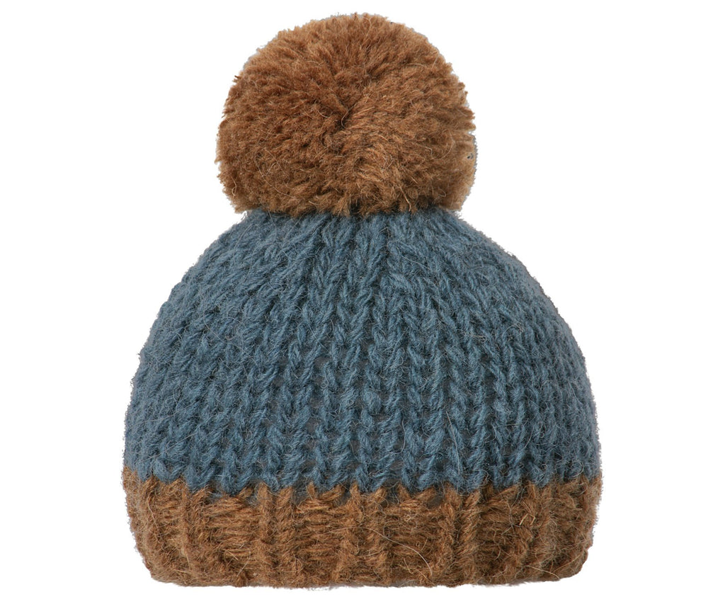 Maileg Hand Knitted Hat Petrol/Brown