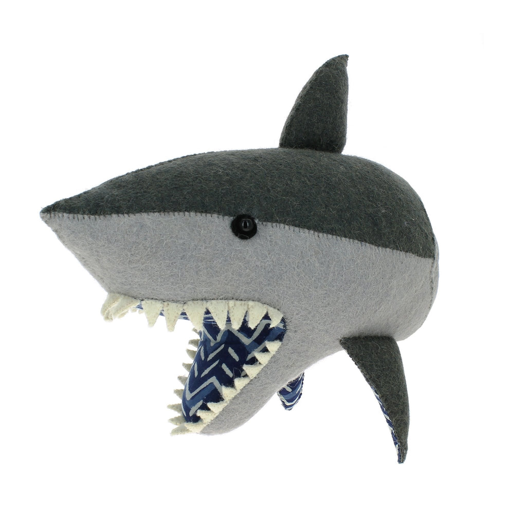 Fiona Walker England Shark Head with Batik Trim (Semi) - Bijou Lifestyle