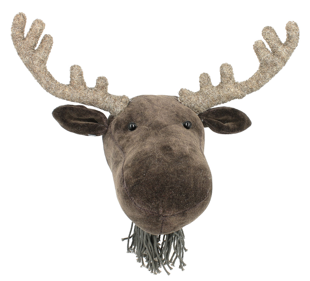 Fiona Walker England Mini Velvet Moose Head