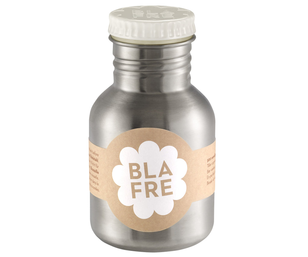 Blafre Steel Bottle White Lid - 300ml