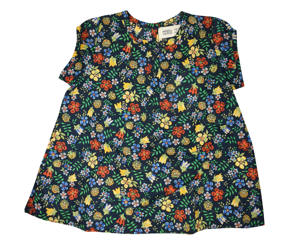 Hazel Village Liberty of London Night Meadow Dress 12-18 Mths