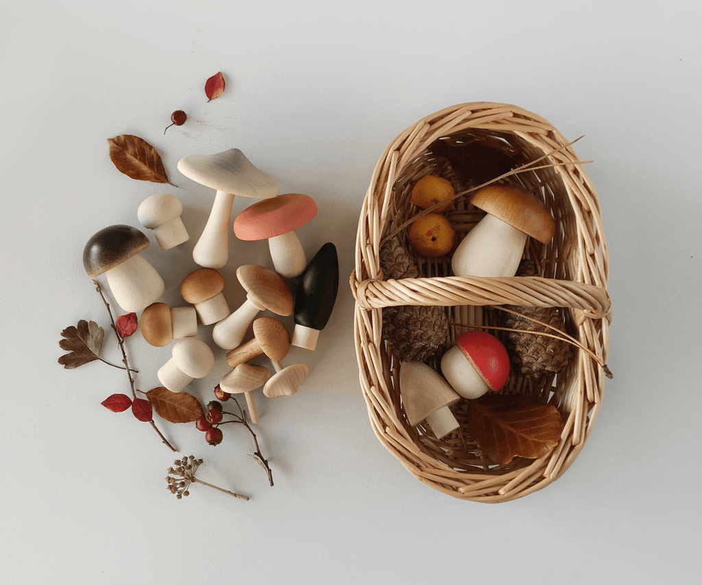 Moon Picnic Forest Mushroom Basket Light