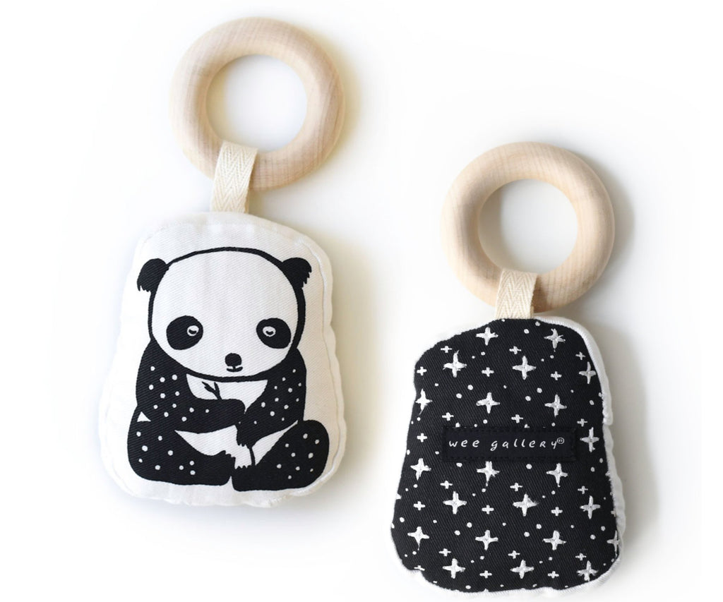 Wee Gallery Teething Ring - Panda