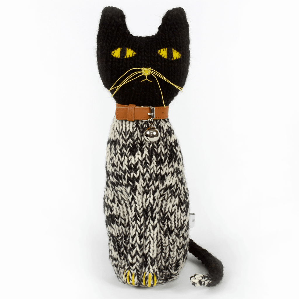 Severina Kids Hand Knitted Cat Leopold - Black & White
