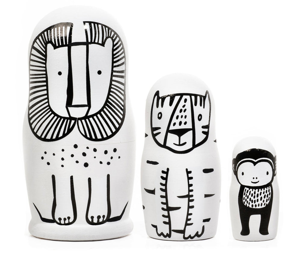 Wee Gallery Set of 3 Nesting Dolls