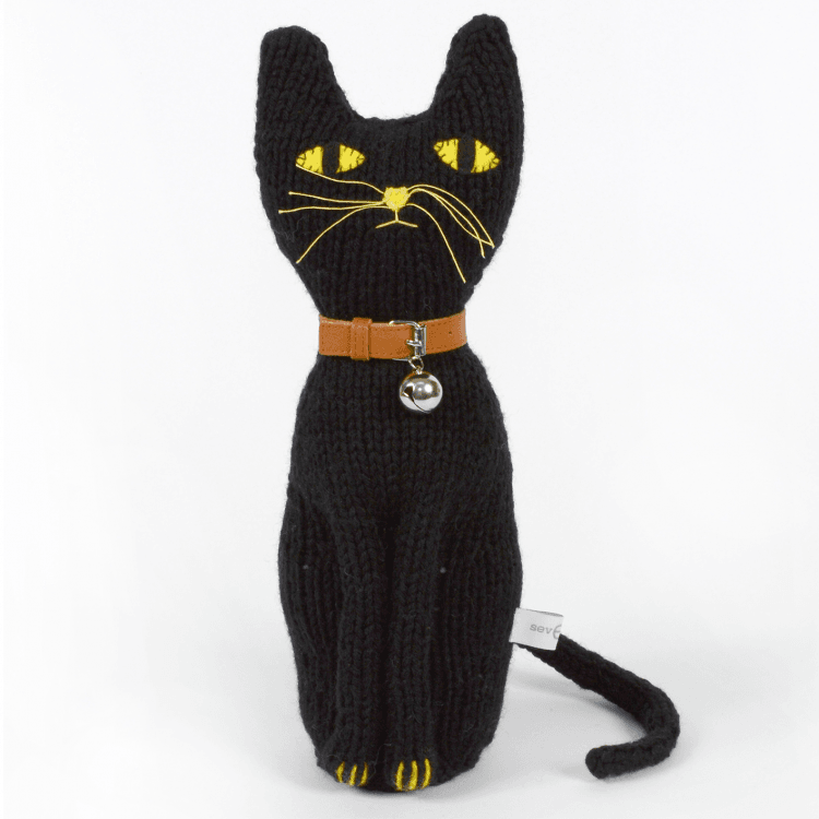 Severina Kids Hand Knitted Cat Lucho - Black