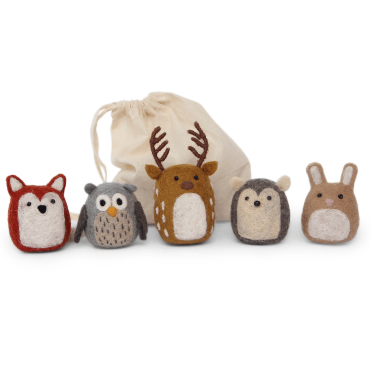 En Gry & Sif Set of Five Forest Animals - Bijou Lifestyle
