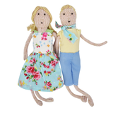 Laura Long Hand Knitted Hansel & Gretel Dolls - Bijou Lifestyle