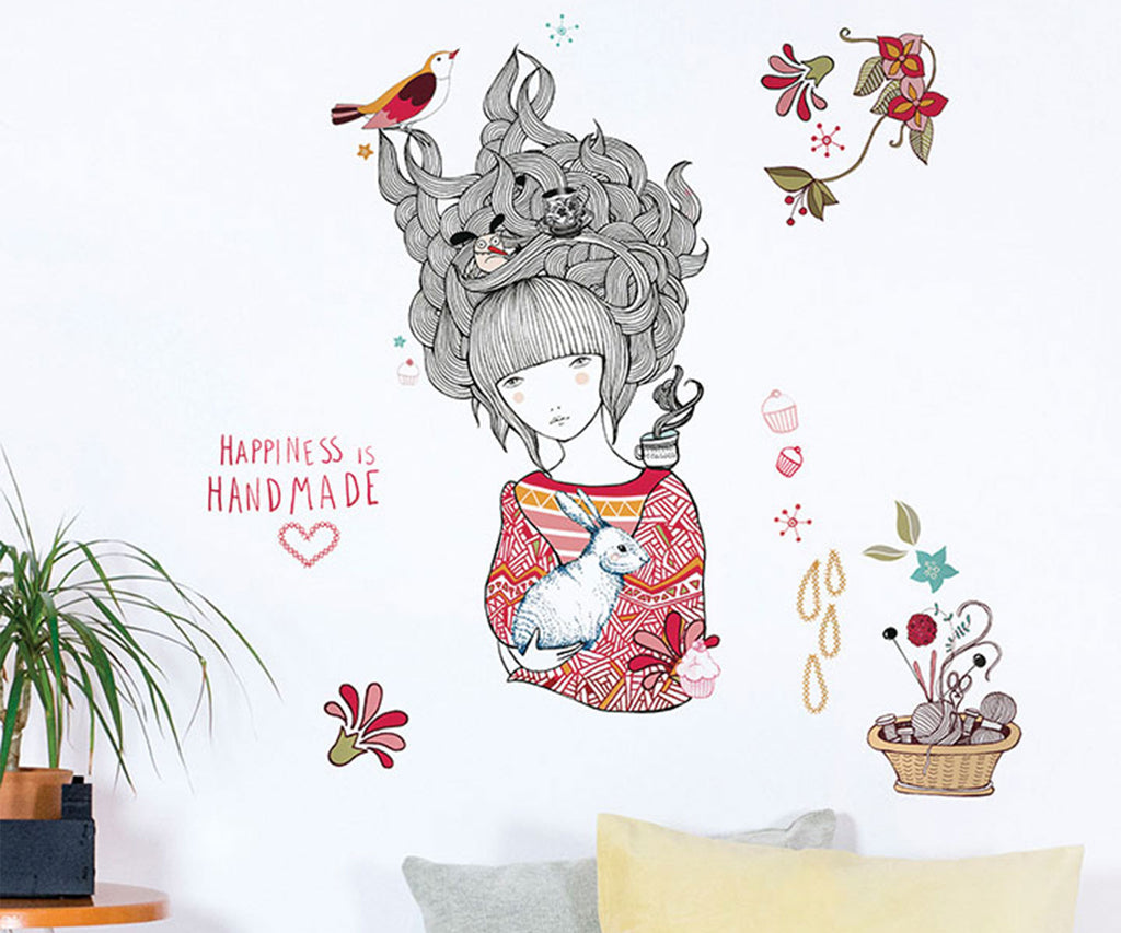 Chispum Happiness is Handmade Wall Sticker - Bijou Lifestyle
