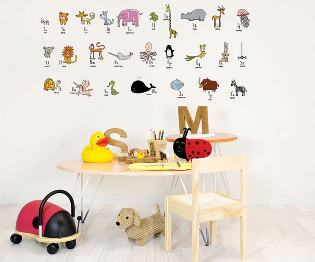 Chispum Animals Alphabet Wall Sticker - Bijou Lifestyle