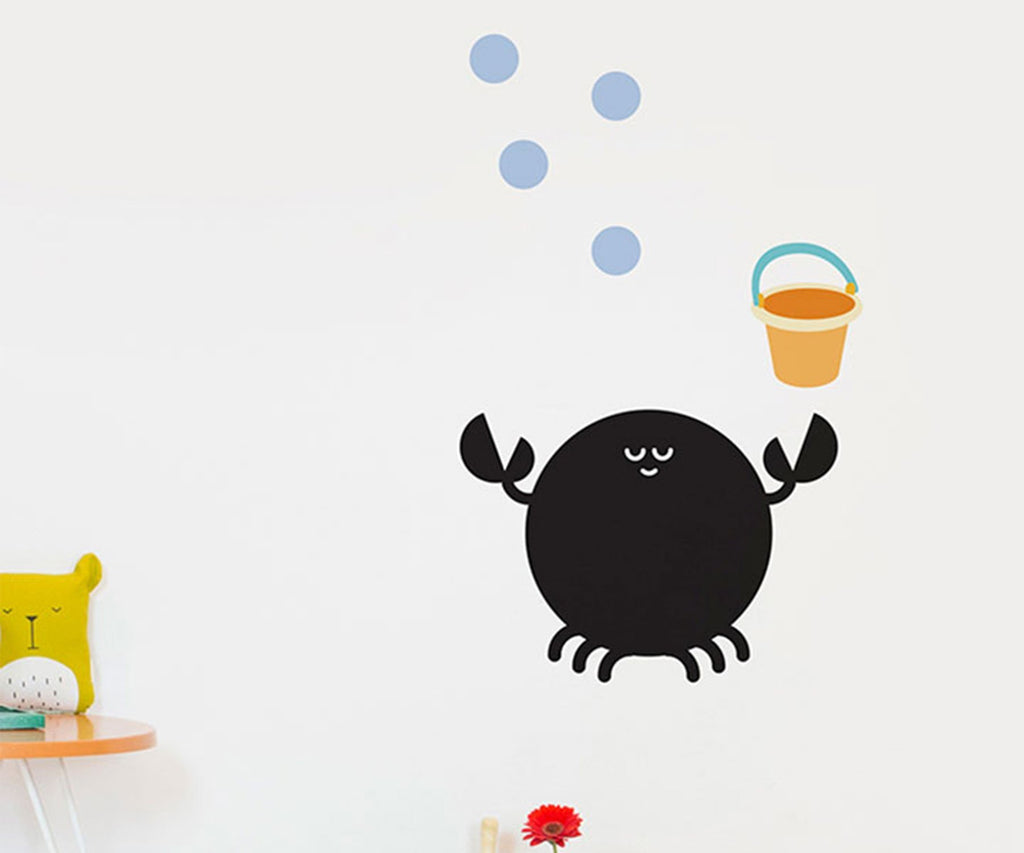 Chispum Crab Blackboard Wall Sticker - Bijou Lifestyle