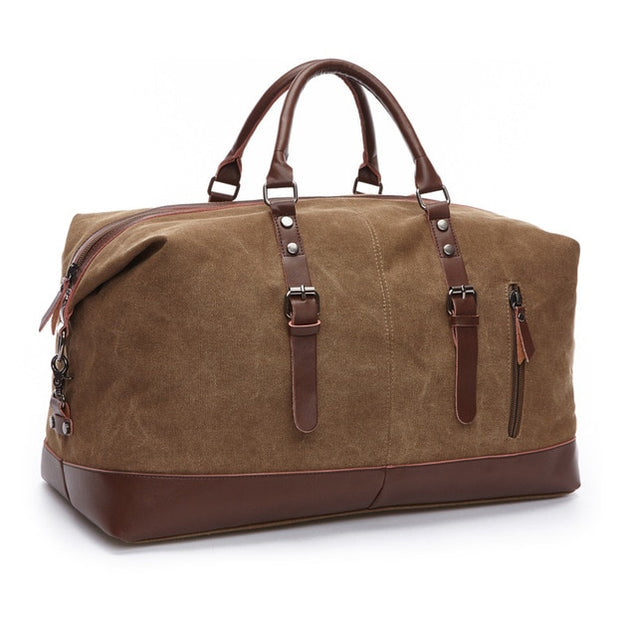Canvas Leather Men Carry on Travel Bags