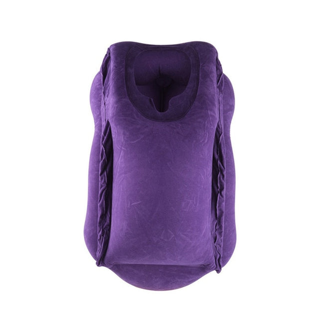 Inflatable Cushion Travel Head Chin Neck Support Pillow