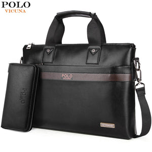 Men Leather Business Briefcase