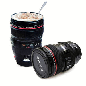 Durable Stainless Steel Camera Lens Cup With Lid