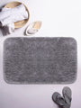<SMALL><B><strong>PLUSH </B></strong></SMALL>Ultra-Soft Fluffy Bath Mat With Non-Slip Rubber Backing<SMALL>  ∙ 1pc ∙</SMALL> <small> (plush-grey)</small>