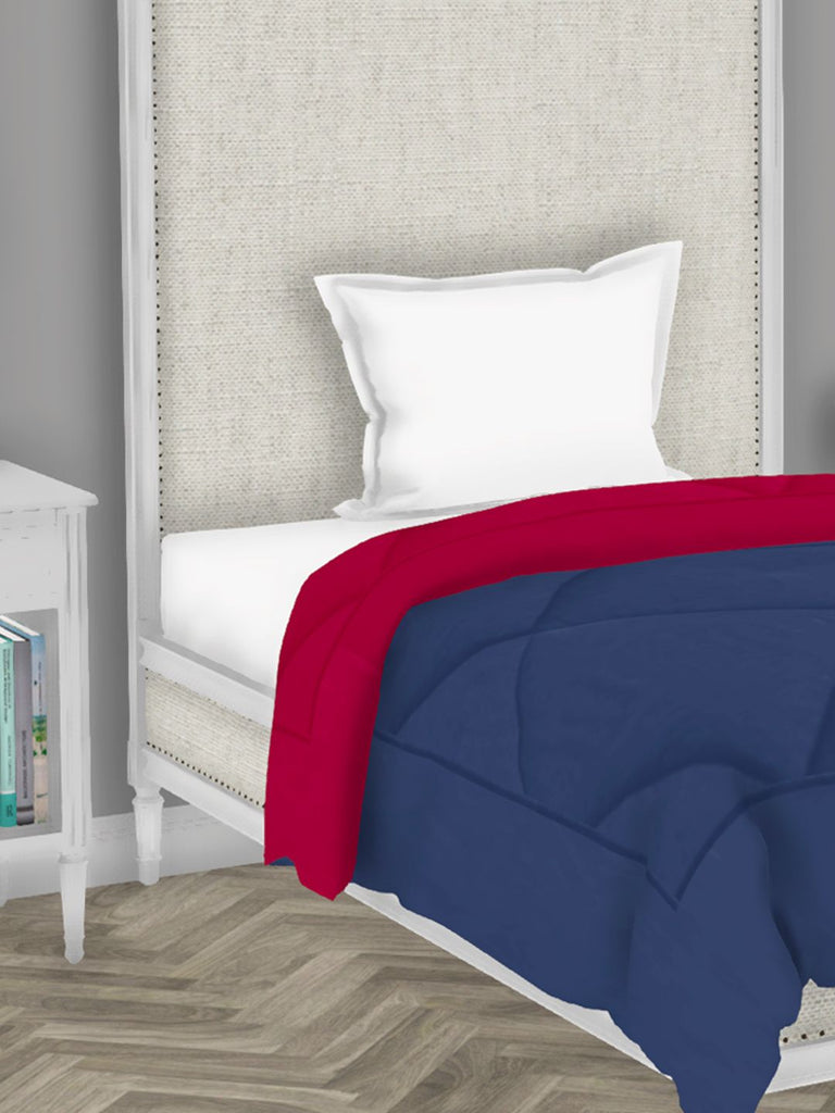 <SMALL><B><strong>CARLSON </B></strong></SMALL>Luxury Soft-Touch Single Comforter [250Gsm Micro-Silk Filling] All-Weather Ac Quilt <small> (abstract-night fall/hot pink)</small>