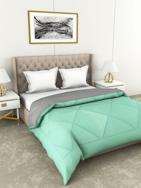 <SMALL><B><strong>CARLSON </B></strong></SMALL>Luxury Soft-Touch Double Comforter [250Gsm Micro-Silk Filling] All Weather Ac Quilt <small> (abstract-mint/grey)</small>