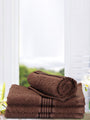 <SMALL><B><strong>D`ROSS </B></strong></SMALL>100% Cotton Super-Soft Face Towel<SMALL>  ∙ 4pc ∙</SMALL> <small> (solid-brown)</small>