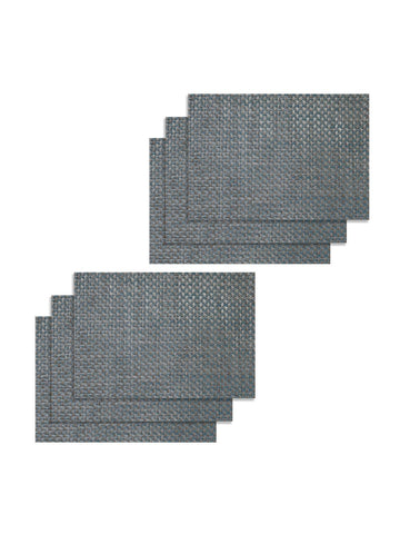 <SMALL><B><strong>BELLEVUE </B></strong></SMALL>Easy Clean Luxury Woven Pvc Dining Place-Mat <small> (bellevue-blue/grey)</small>