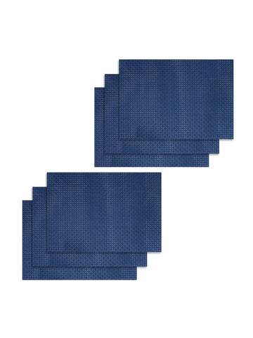 <SMALL><B><strong>BELLEVUE </B></strong></SMALL>Easy Clean Luxury Woven Pvc Dining Place-Mat <small> (bellevue-blue)</small>