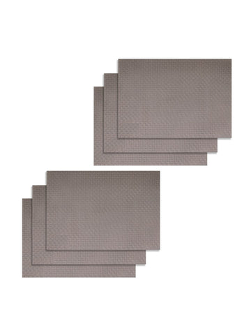 <SMALL><B><strong>BELLEVUE </B></strong></SMALL>Easy Clean Luxury Woven Pvc Dining Place-Mat <small> (bellevue-beige)</small>