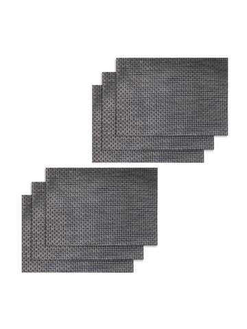 <SMALL><B><strong>BELLEVUE </B></strong></SMALL>Easy Clean Luxury Woven Pvc Dining Place-Mat <small> (bellevue-antique/ black)</small>