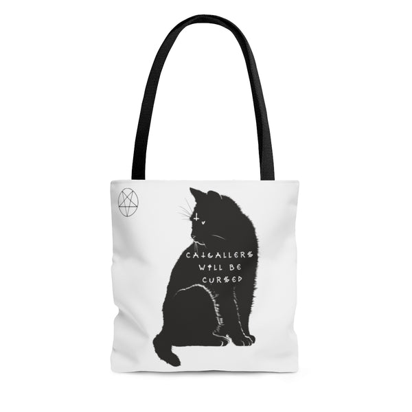 Catcallers Will Be Cursed Cat Tote - SweetWitch