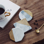 3 Piece Marble & Gold Coasters - SweetWitch