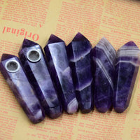 Belladonna Fluorite Crystal Pipe - SweetWitch
