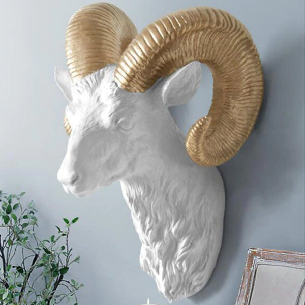 Ram Head Wall Hanging - SweetWitch