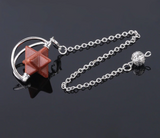 Crescent & Star Crystal Pendulum (13 kinds of Stones) - SweetWitch