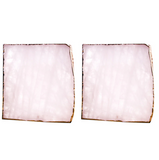 2 Piece Gold-lined Rose Quartz Coasters - SweetWitch