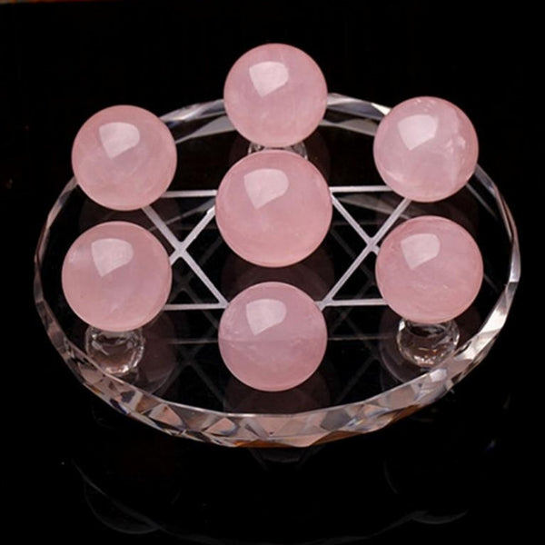 Rose Quartz Crystal Ball Grid - SweetWitch