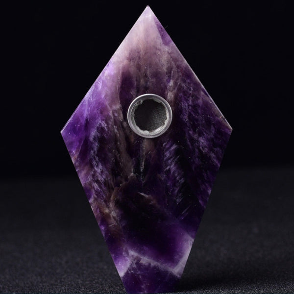 Dream Amethyst Coffin Cut Crystal Pipe - SweetWitch