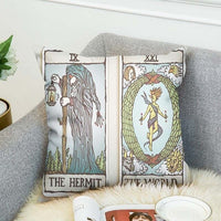 Double-sided Vintage Tarot Print Cushion Covers - SweetWitch