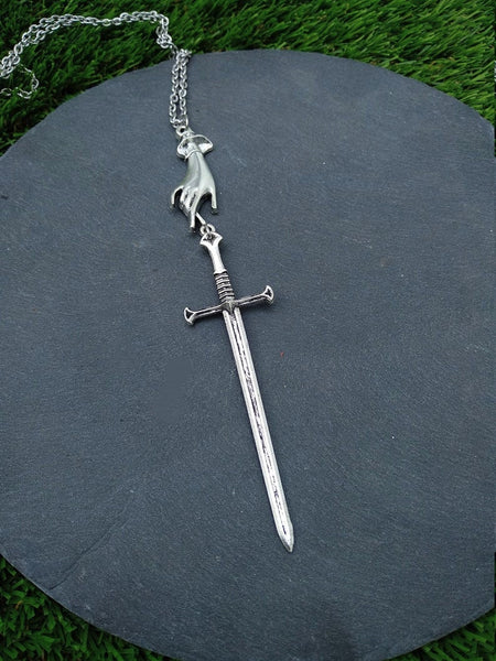 Silver Athame Necklace - SweetWitch