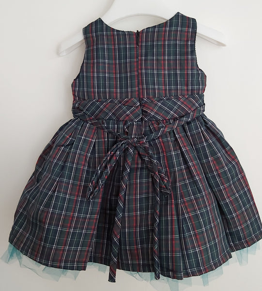 Girl's Emerald Tartan Dress & Bolero