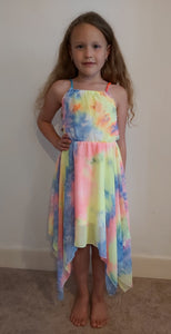 Girls Tie Dye Chiffon Dress