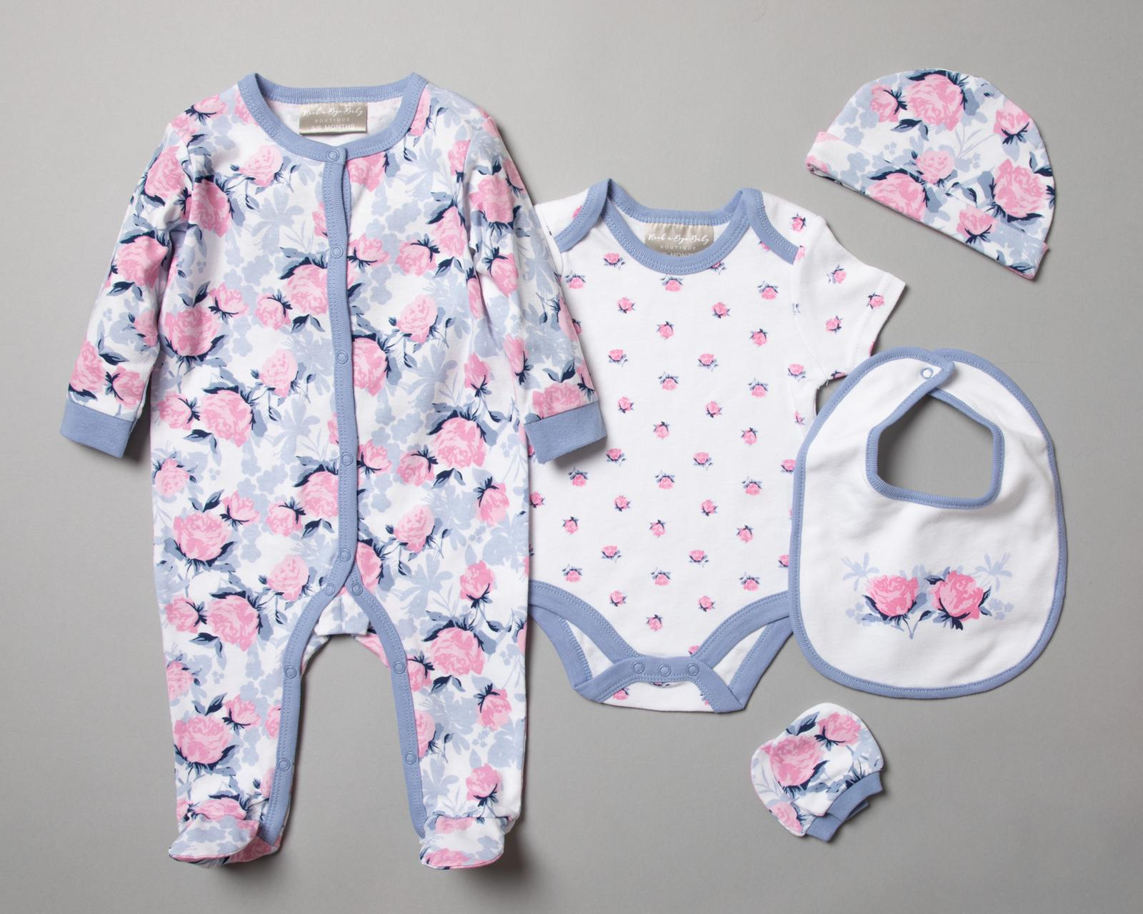 Baby Girls Baby Romper Gift Set with Free Gift Bag