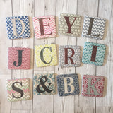 Ceramic alphabet coasters heaven sends