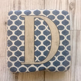 ceramic alphabet coaster