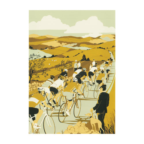 Tour De Yorkshire Greetings Card