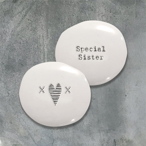 special sister porcelain pebble