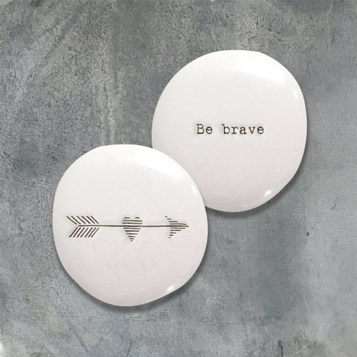 be brave message pebble