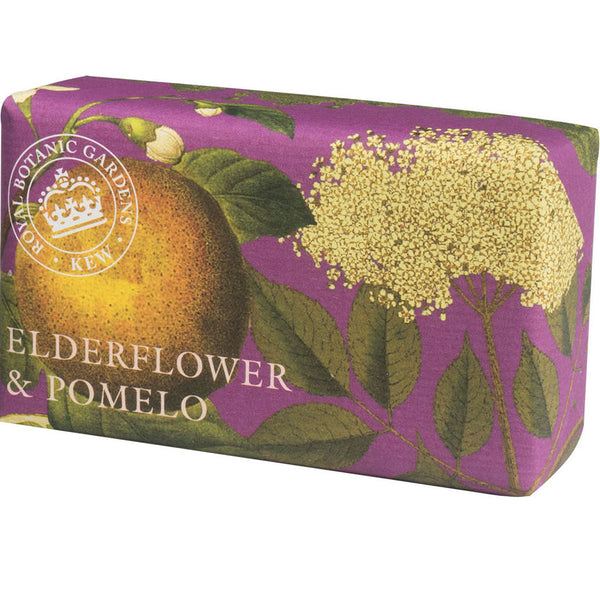 elderflower and pomelo luxury soap, made in England.