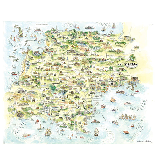 devon map by Kate Chidley