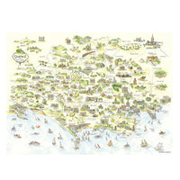 Dorset County Map by Kate Chidley