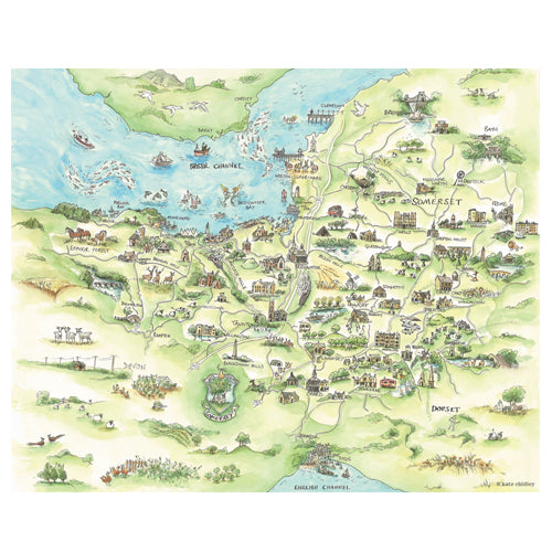 Kate Chidley Somerset Map